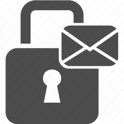 letter, lock, mail, message, writing icon