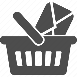 basket, cart, letter, message, writing icon