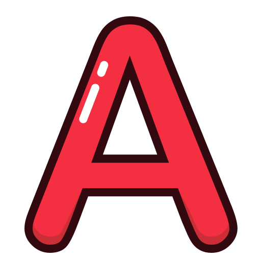 a, alphabet, letter, letters, red icon