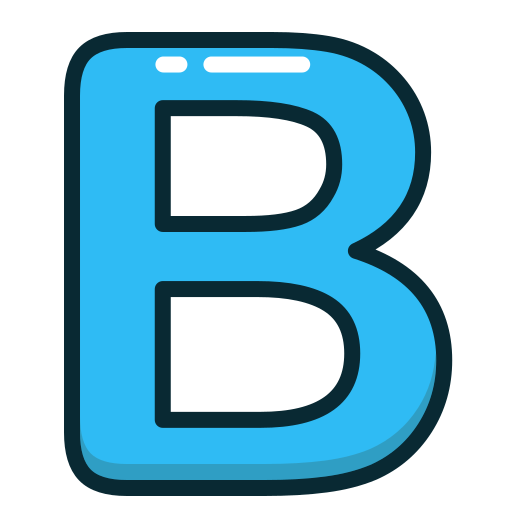 alphabet, b, blue, letter, letters icon