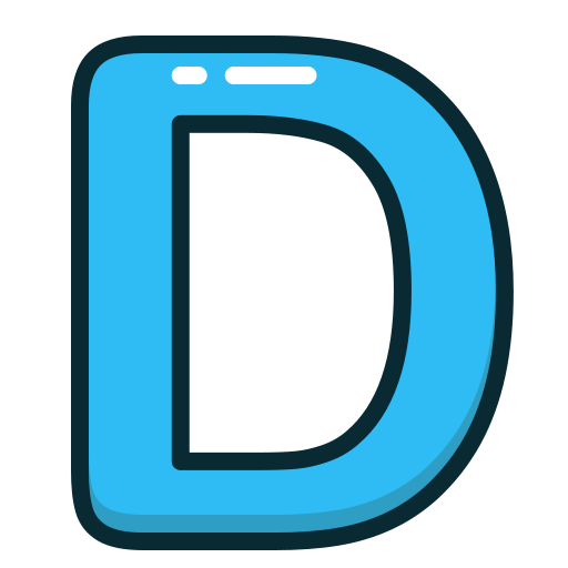 Alphabet, blue, d, letter, letters icon | Icon search engine