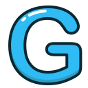 blue, g, letter, alphabet, letters icon