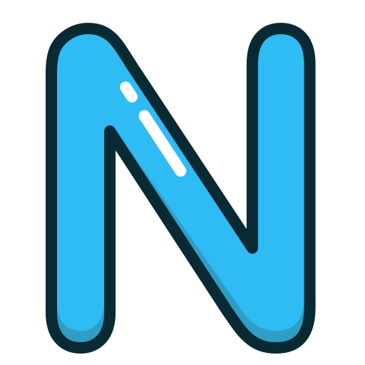 alphabet, blue, letter, letters, n icon