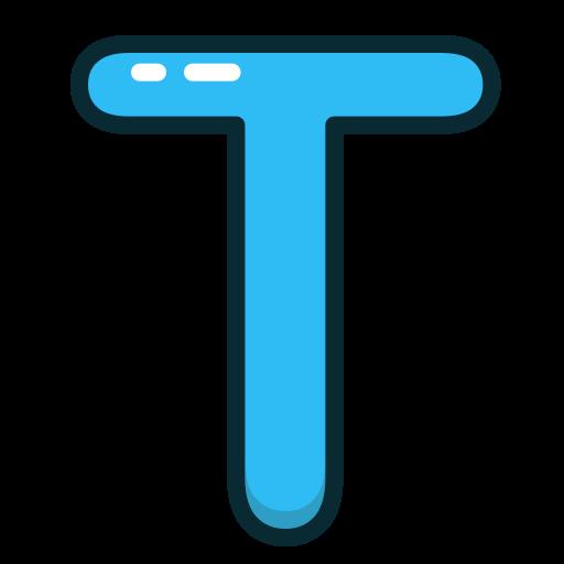 alphabet, blue, letter, letters, t icon