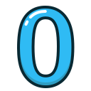 blue, number, numbers, study, zero icon