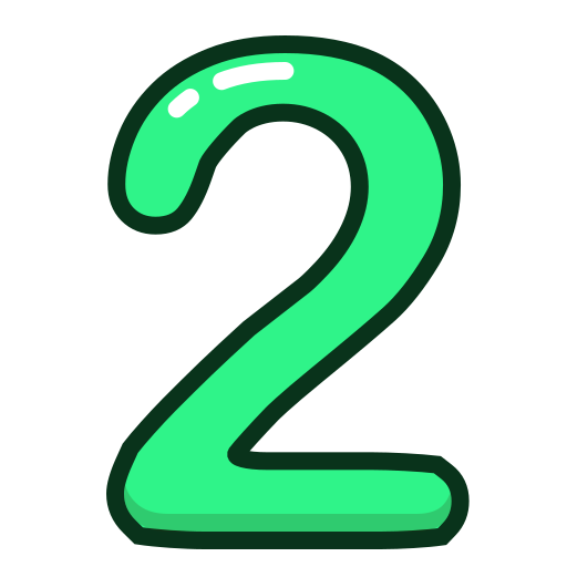 green, number, numbers, study, two icon