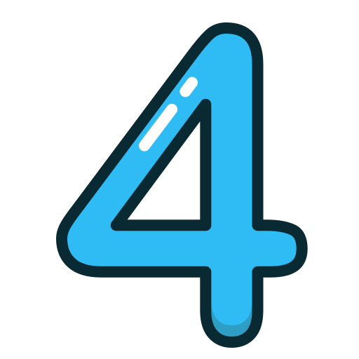 blue, fout, number, numbers, study icon