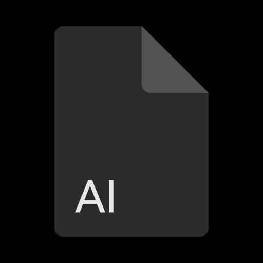 ai file, extension, file, format icon