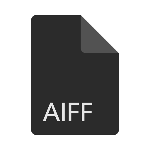 aiff, extension, file, format icon