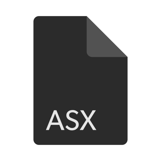 asx, extension, file, format icon
