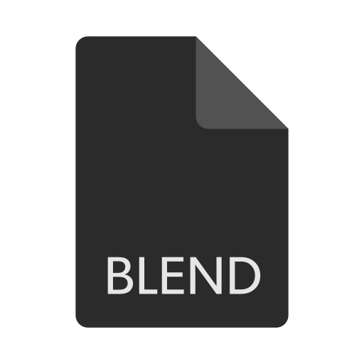 blend, extension, file, format icon