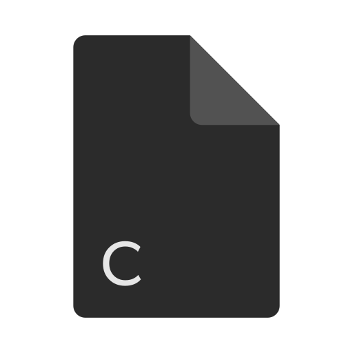 c, extension, file, format icon