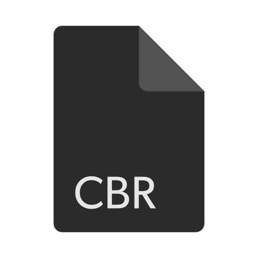 cbr, extension, file, format icon