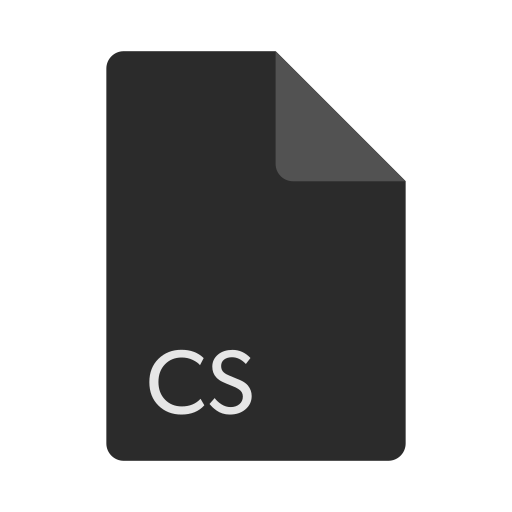 cs, extension, file, format icon