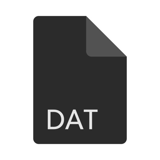 dat, extension, file, format icon