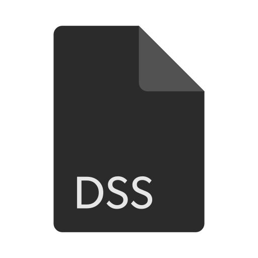 dss, extension, file, format icon