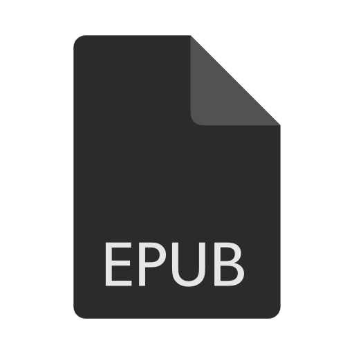 epub, extension, file, format icon
