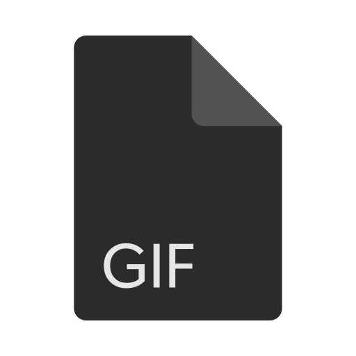 extension, file, format, gif icon