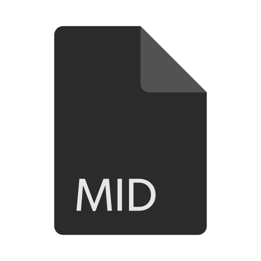 extension, file, format, mid icon