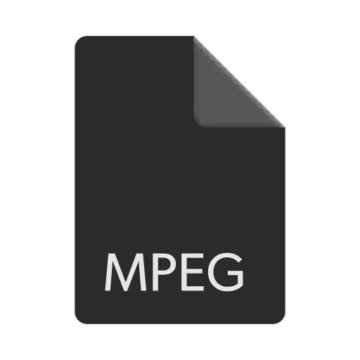 extension, file, format, mpeg icon