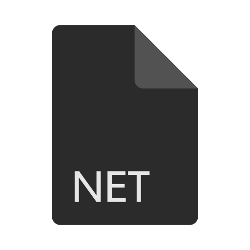 extension, file, format, net icon