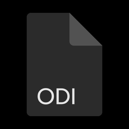 extension, file, format, odi icon