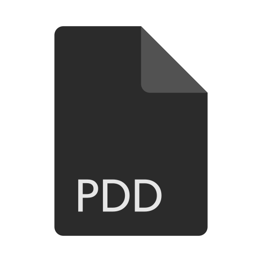 extension, file, format, pdd icon