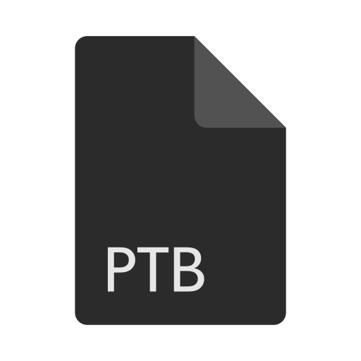 extension, file, format, ptb icon