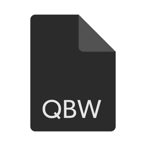 extension, file, format, qbw icon