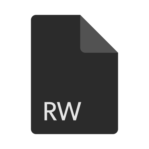 extension, file, format, rw icon