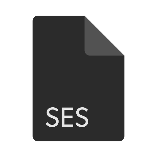 extension, file, format, ses icon
