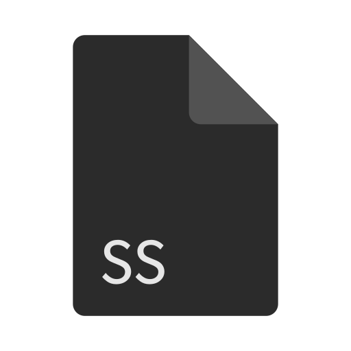 extension, file, format, ss icon