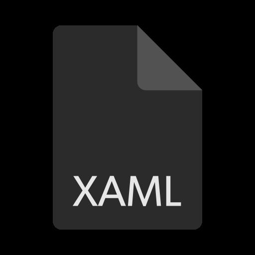 extension, file, format, xaml icon