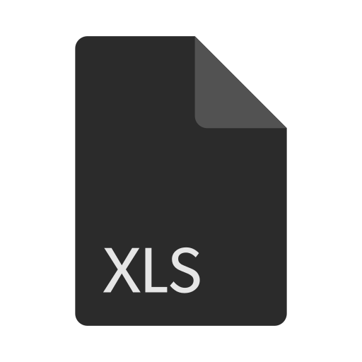 extension, file, format, xls icon