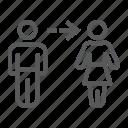 change, female, gender, lgbt, male, pride, transition icon