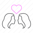 couple, female, heart, lesbian, lgbt, love, wedding