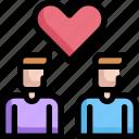 couple, homosexual, lgbt, man, pride, wedding icon