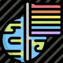 day, flag, homosexual, lgbt, pride, rainbow, world icon