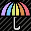 homosexual, insurance, lgbt, pride, protection, rainbow, umbrella icon