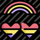 heart, homosexual, lgbt, pride, rainbow, romantic icon