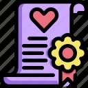 certification, homosexual, lgbt, marriage, pride, valentines, wedding icon