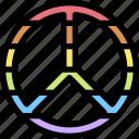 homosexual, lgbt, peace, pride, rainbow icon
