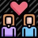 couple, homosexual, lgbt, marriage, pride, wedding, woman icon