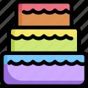 cake, homosexual, lgbt, pride, rainbow, wedding icon