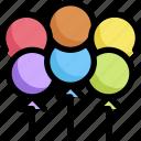 balloon, decoration, homosexual, lgbt, party, pride, rainbow icon
