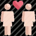 couple, homosexual, lgbt, pride, woman icon