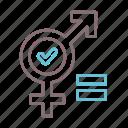 gender, lgbt, cisgender, identity icon