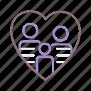 family, heart, love, pride icon