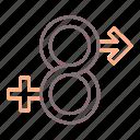 gender, lgbt, fluid, identity icon