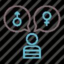 gender, lgbt, identity icon